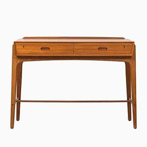 Brauner Mid-Century Schreibtisch aus Teak von Svend Aage Madsen für Sigurd Hansens Møbelfabrik, 1950er