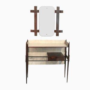 Italian Vanity Table Set, 1950s