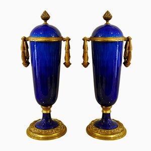 Vasen von Paul Millet für De Sèvres, 1930er, 2er Set