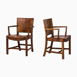 Vintage Model 3758A Armchairs by Kaare Klint for Rud. Rasmussen, 1930s, Set of 2