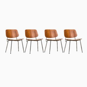 Scandinavian Dining Chairs by Børge Mogensen for Søborg Møbler, 1950s, Set of 4