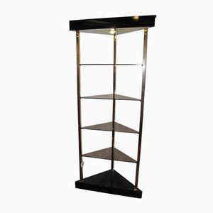 Illuminated Corner Display Cabinet from Belgo Chrom, 1970s