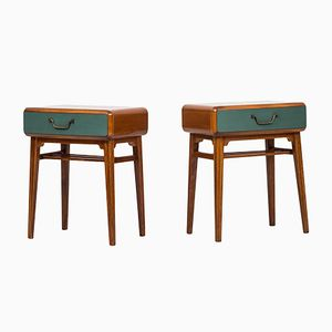 Swedish Bedside Tables by Axel Larsson for Bodafors, 1950s, Set of 2