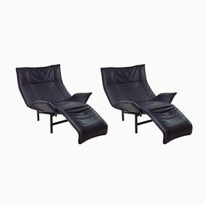 Vintage Relax-Sessel von Vico Magistretti für Cassina, 2er Set