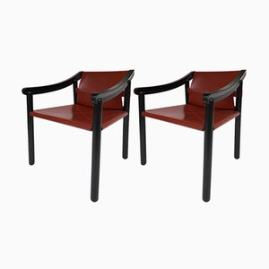 Italian Armchairs by Vico Magistretti for Cassina, 1980s, Set of 2