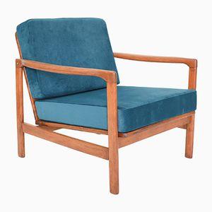 Blauer Mid-Century Sessel von Z. Baczyk