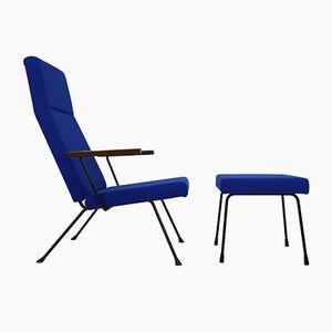 Modell 1410 Sessel und Fußhocker von A.R. Cordemeyer für Gispen, 1959