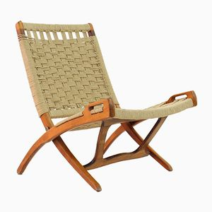 Foldable Rope Wicker Chair by Ebert Wels, 1960s