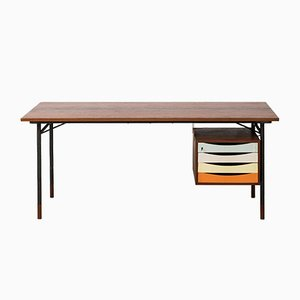Mid-Century Danish Nyhavn Desk by Finn Juhl for Bovirke, 1950s
