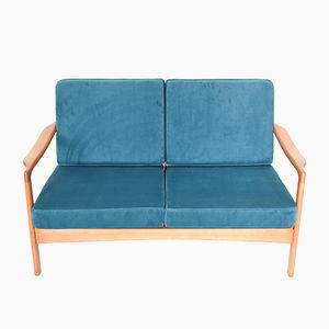 Vintage Blue BB522 Soviet Sofa