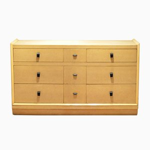 Black & Cream Lacquered Wooden Chest of Drawers, 1930s