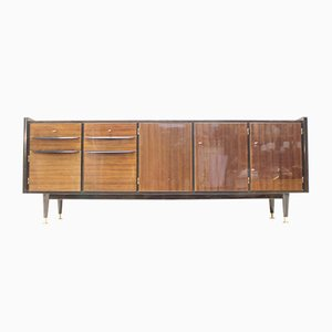 Large Mid-Century High Sideboard with Illuminated Bar