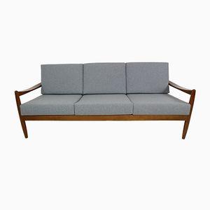 Dänisches Teak Bugholz Sofa, 1960er