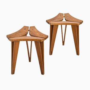 Stools by Edvard Wilberg, 1955, Set of 2