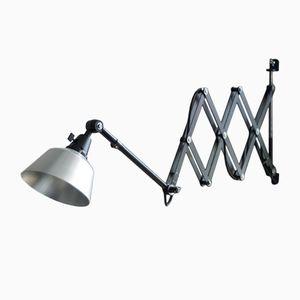 Grande Lampe à Ciseaux Vintage Noire par Curt Fischer pour Midgard