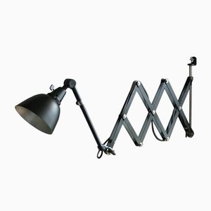 Vintage Large Black Scissor Light by Curt Fischer for Midgard