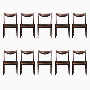 Mid-Century Darby Dining Chairs by Torbjørn Afdal for Nesjestranda Møbelfabrik, Set of 10