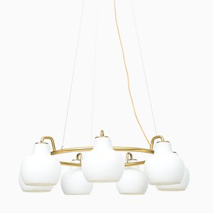 Christiansborg Ceiling Lamp by Vilhelm Lauritzen for Louis Poulsen, 1950s