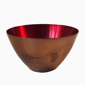 Danish Copper and Enamel Bowl by Corona, 1960s