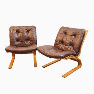 Norwegian Kengu Lounge Chairs by Elsa & Nordahl Solheim for Rybo Rykken & Co, 1976, Set of 2