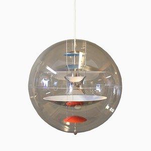 Lampada a sospensione vintage sferica di Verner Panton, anni '80