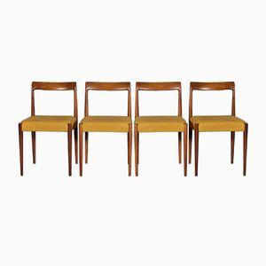 Sedie da pranzo di Lubke, anni '60, set di 4