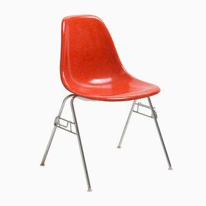 Roter Vintage DSS Stuhl von Charles & Ray Eames für Herman Miller