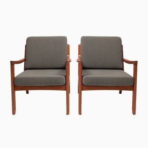 Senator Lounge Chairs by Ole Wanscher for France & Søn, Set of 2