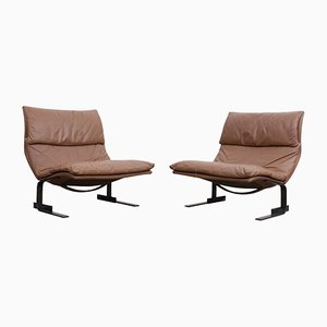 Onda Lounge Chairs by Giovanni Offredi for Saporiti, Set of 2