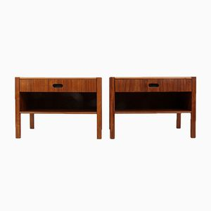 Mid-Century Walnut Bedside Chests, 1960s, Set of 2
