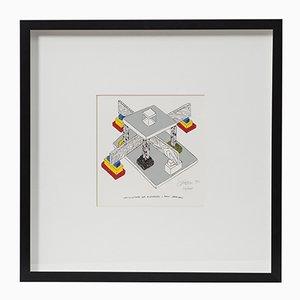 Architettura per riconoscere i punti cardinali Lithograph von Ettore Sottsass, 1990