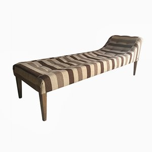 Mid-Century Daybed in Persian Jijin Hand Woven Fabric from Fendi Casa