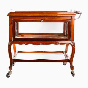 Antique Trolley with Removable Tray & Side Doors