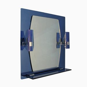 Mirror with Sconces and Shelf, 1970s