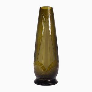 Vaso Art Deco in vetro di Legras, anni '30