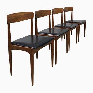 Dänische Esszimmerstühle von Johannes Andersen für Uldum, 1960er, 4er Set