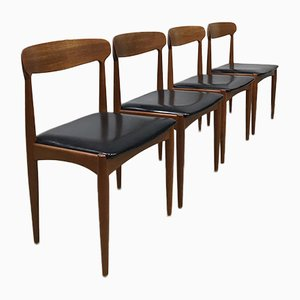 Danish Dining Chairs by Johannes Andersen for Uldum, 1960s, Set of 4