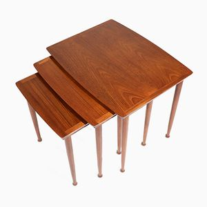 Danish Teak Nesting Tables, 1950s