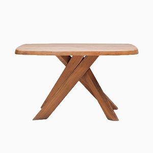 Französischer T35-A Ulmenholz Tisch von Pierre Chapo für Seltz, 1970er