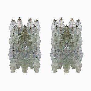 Poliedri Wandlampen von Carlo Scarpa für Venini, 1960er, 2er Set