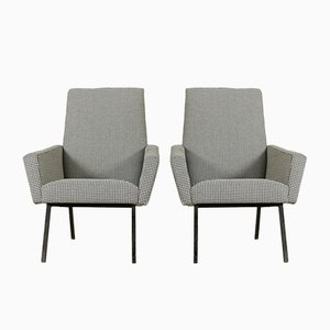 Italian Armchairs with Fabric Upholstery, 1960s, Set of 2