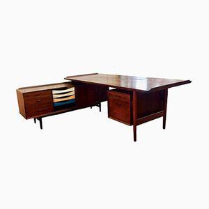 Rio Palisander Schreibtisch von Arne Vodder für Sibast, 1960er