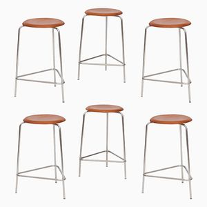 Dot Stools by Arne Jacobsen for Fritz Hansen, 1968, Set of 6