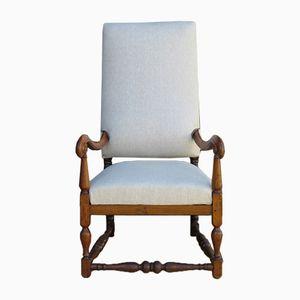 19th Century English Walnut Armchair