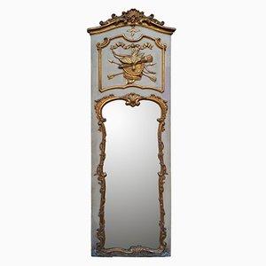 Von Hand Geschnitzter und Vergoldeter Rokoko Spiegel