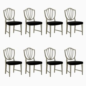 Antique Chairs with Horsehair, Set of 8