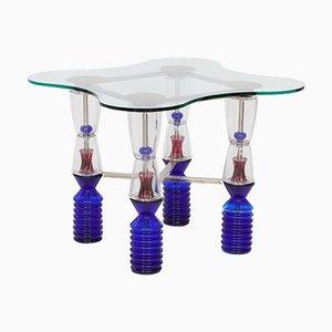 Vintage Kristall Spieltisch von Van Praet & Val-Saint-Lambert