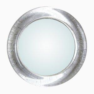 Runder Vintage Spiegel mit Glasrahmen