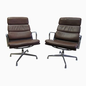 EA 216 Softpad Lounge Chairs by Charles & Ray Eames for Vitra, 1970s, Set of 2
