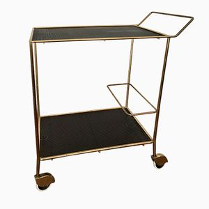 Brass Tea Trolley by Mathieu Matègot, 1950s